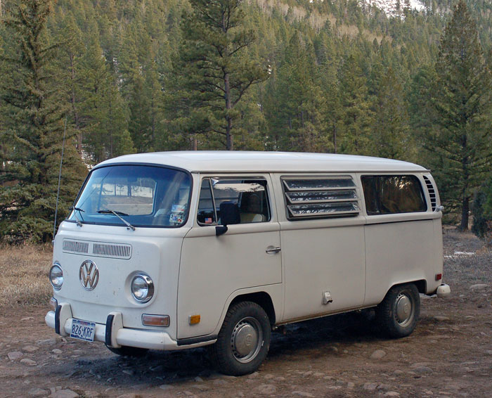 a 1971 volkswagen bus - westfalia weekender edition -